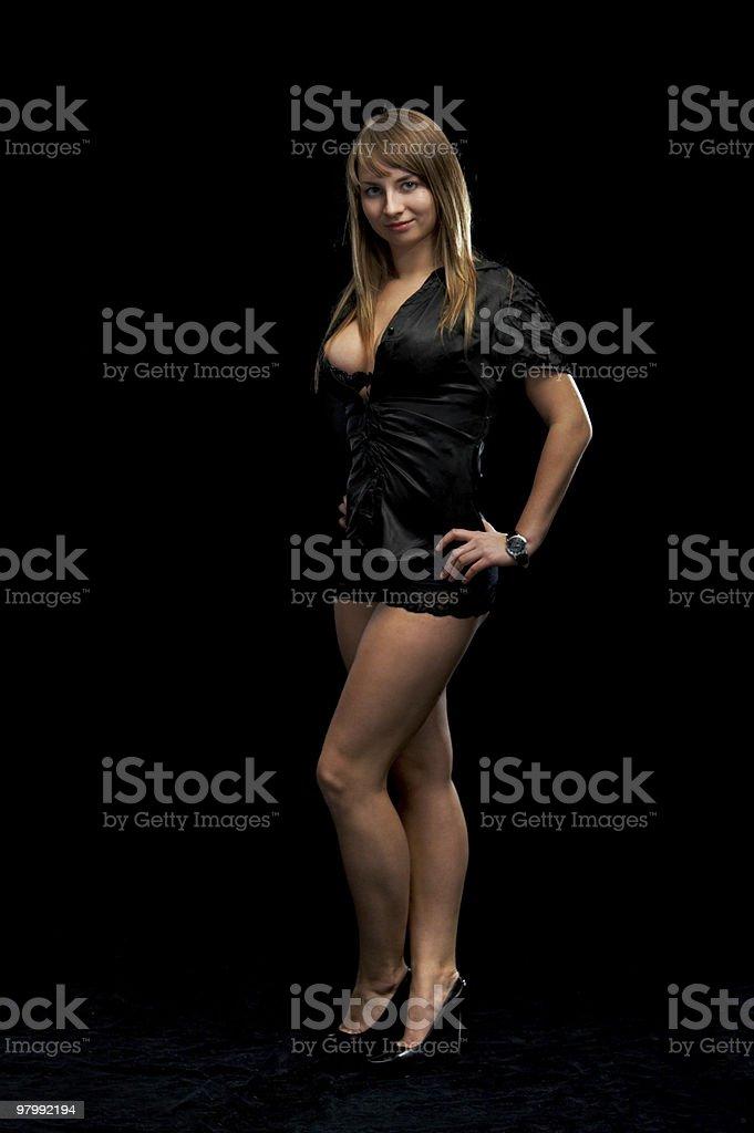 seductive flirt royalty-free stock photo