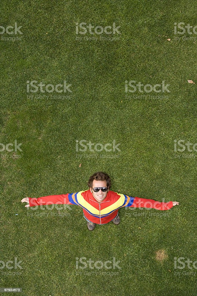 See happyness from above royalty-free stock photo