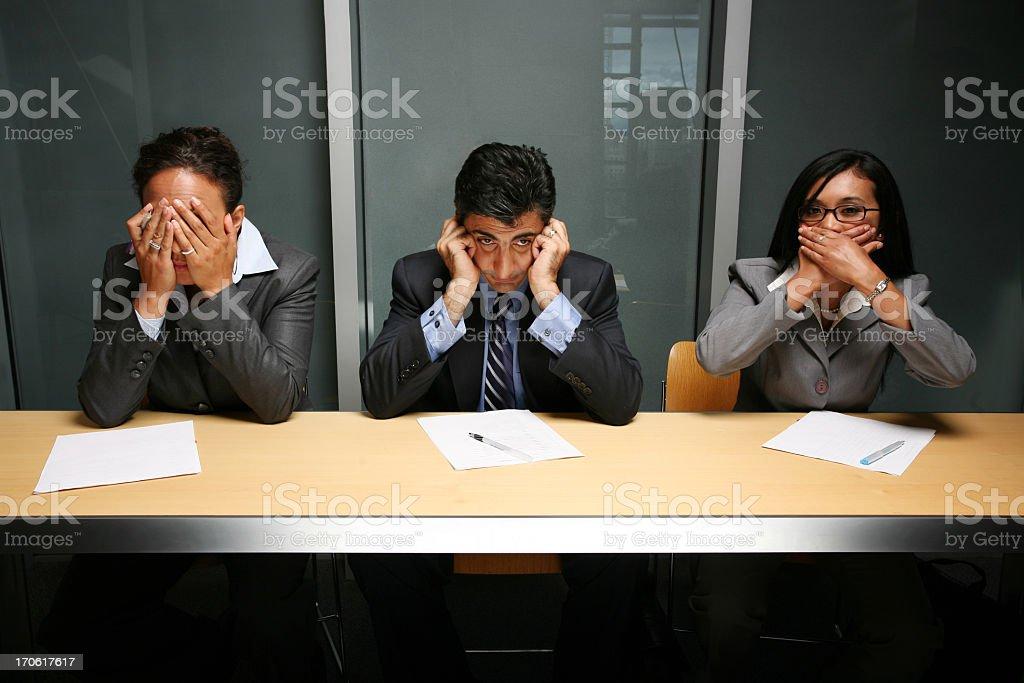 See, hear, speak no evil royalty-free stock photo