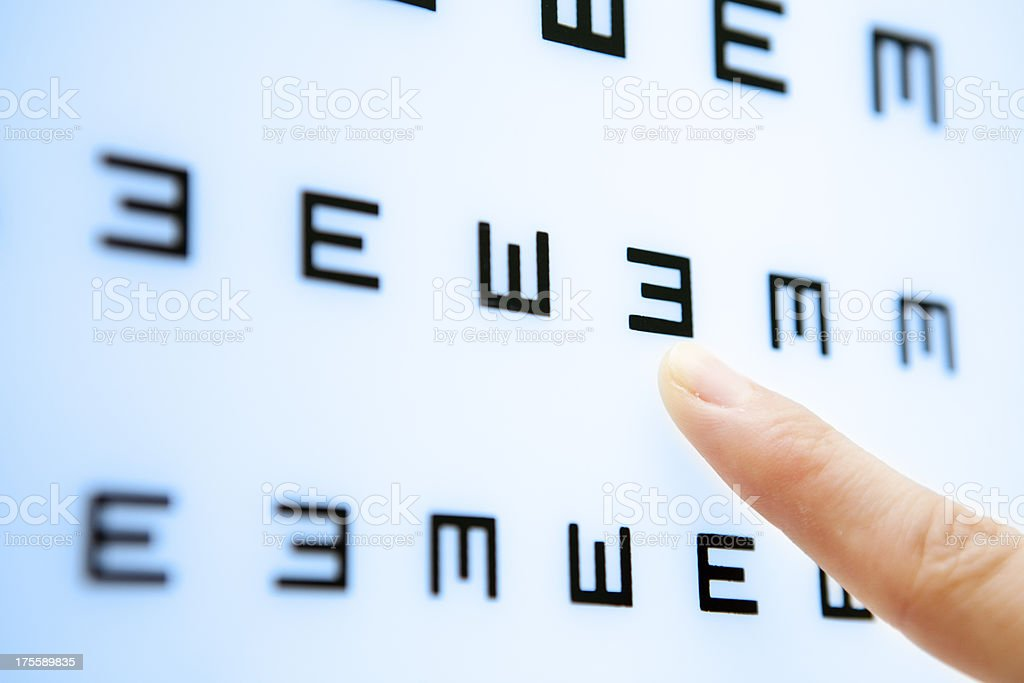 See here--eye chart royalty-free stock photo