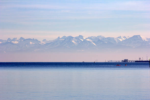 See, Meer, Berge, Alpen Lake of Constance View of alps Bodensee stock pictures, royalty-free photos & images