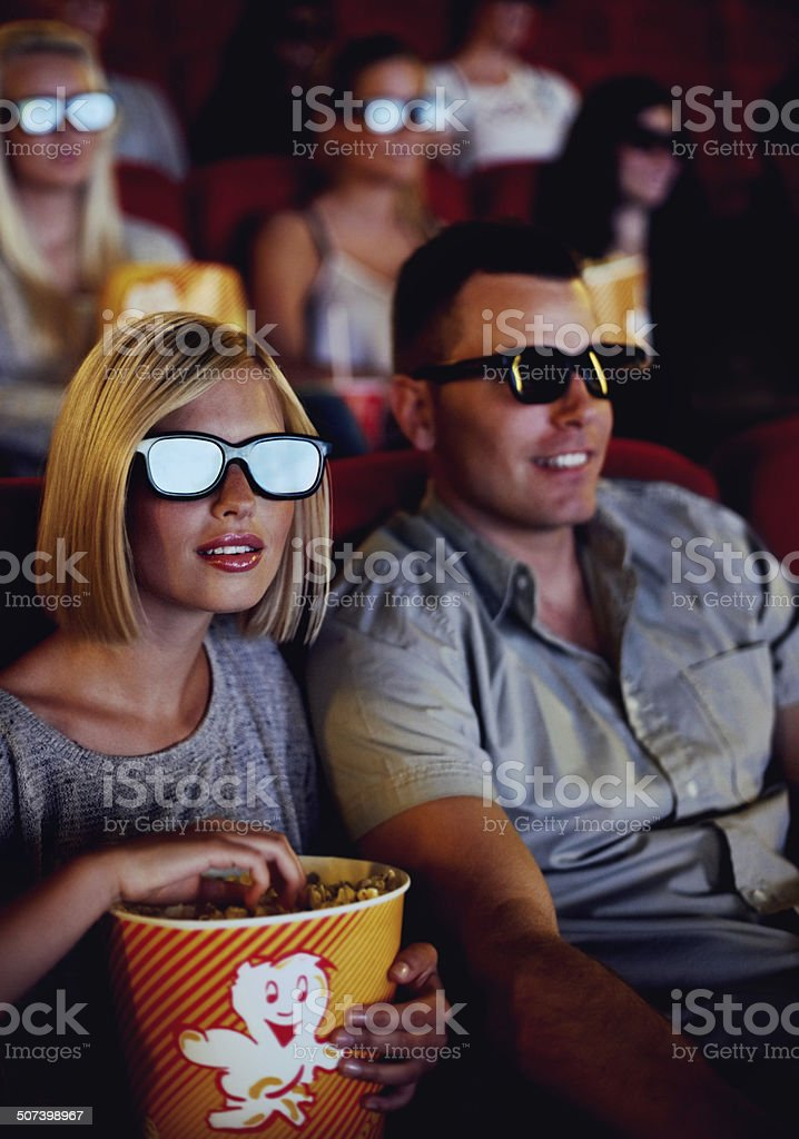 See movies like never before! stock photo
