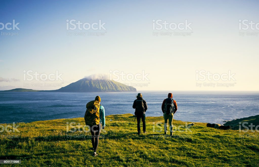 See nature with your best friends stock photo