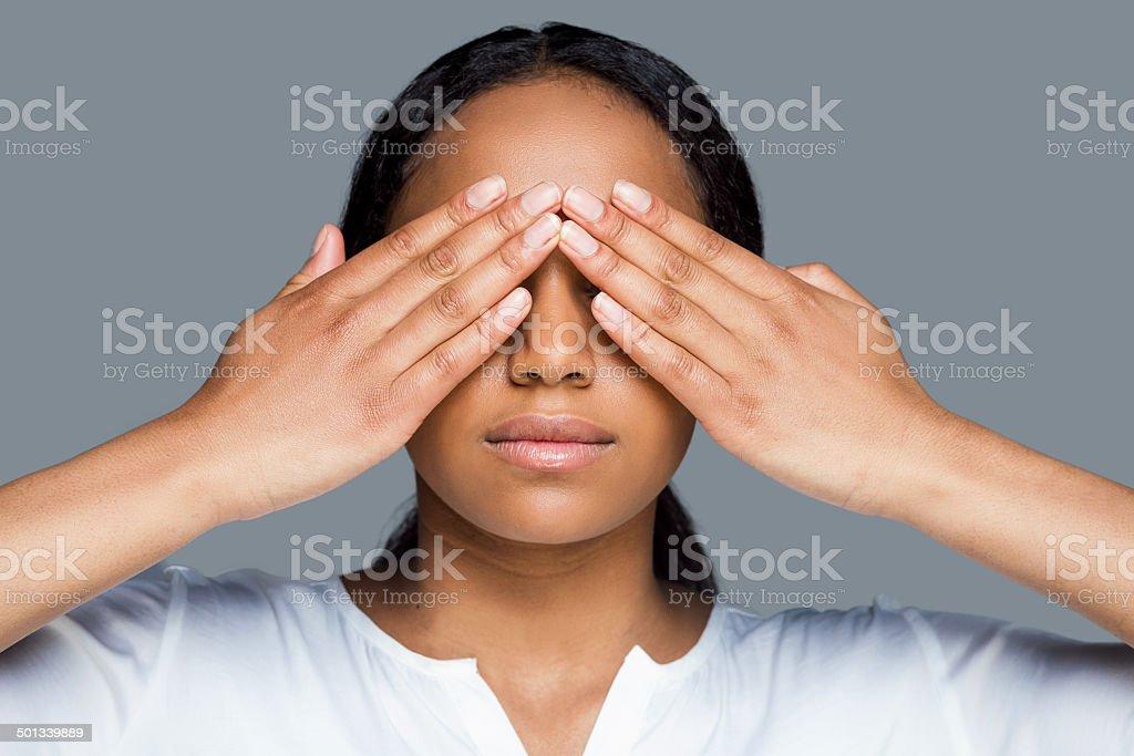I see nothing. stock photo