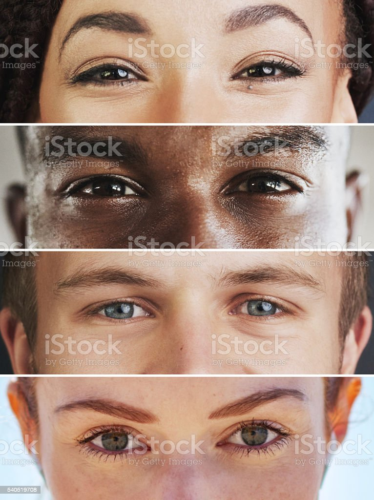 See the beauty in diversity stock photo