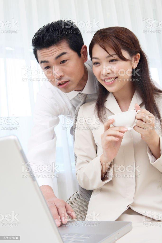 請參閱 PC 夫婦 免版稅 stock photo