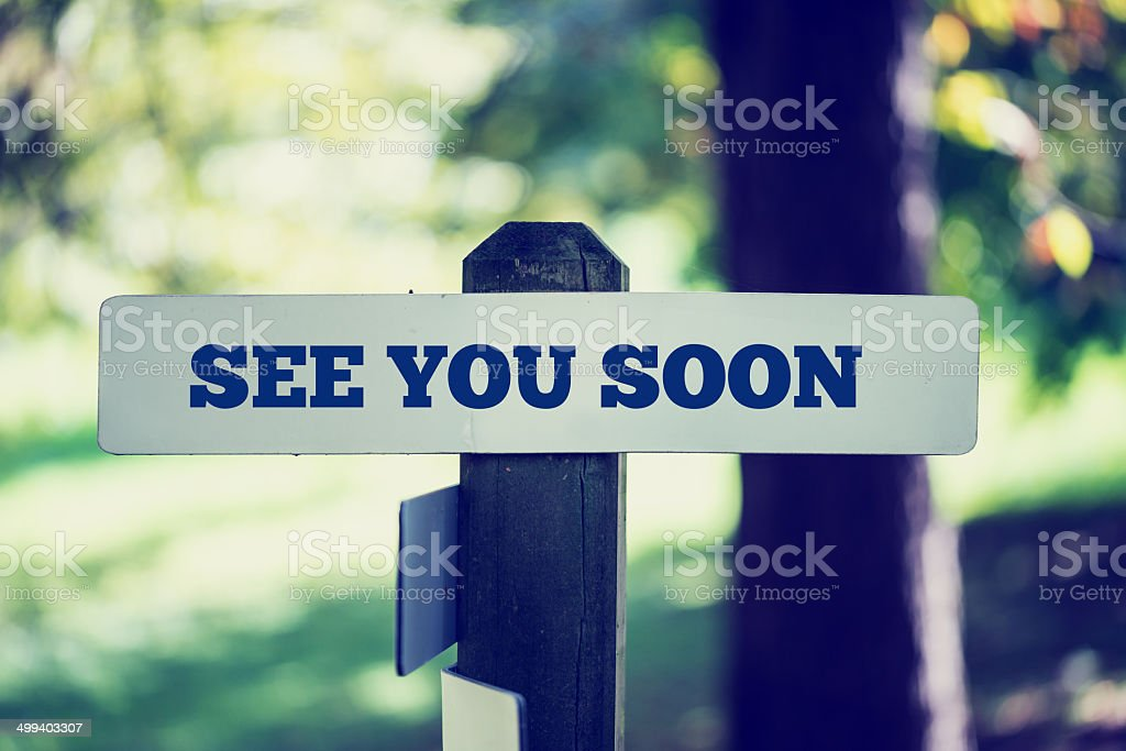 See you soon stock photo
