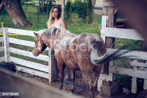 The girl left her horse until tomorrow
