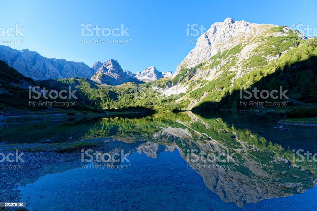 Seebensee stock photo