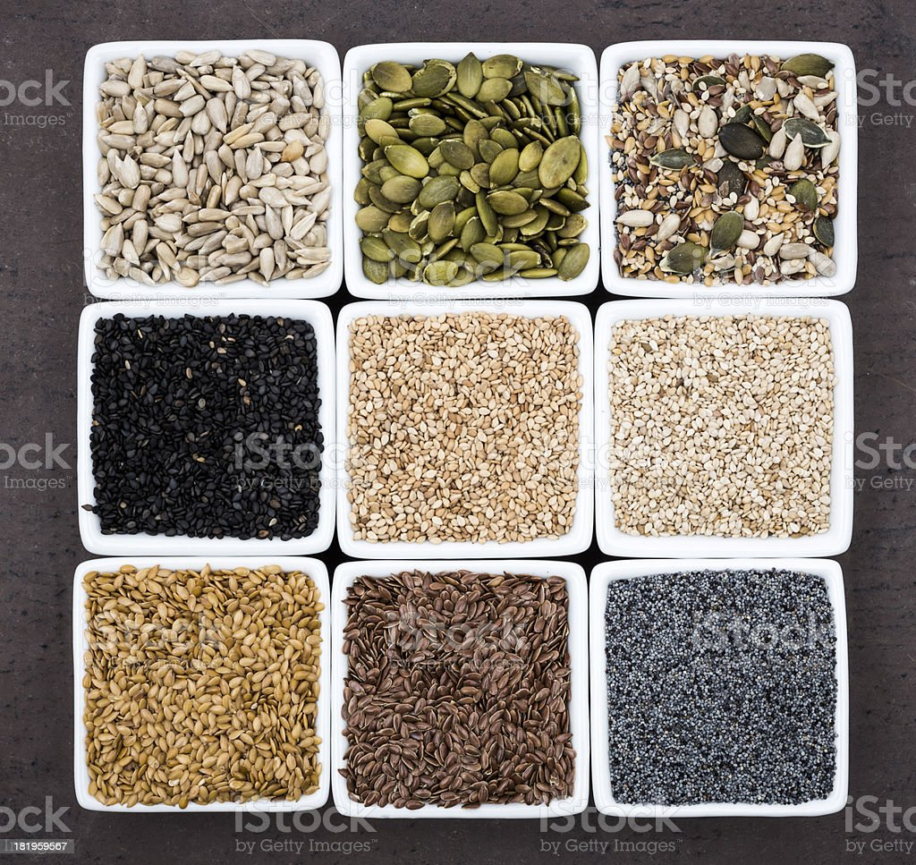 Seed assortment royalty-free stock photo