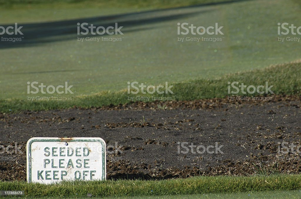 Seeded: Please Keep Off royalty-free stock photo