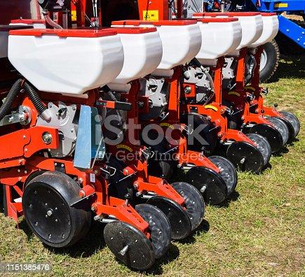 Seeding machinery ready to work