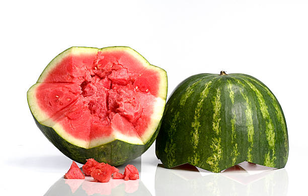 Seedless Watermelon: Clipping Path stock photo