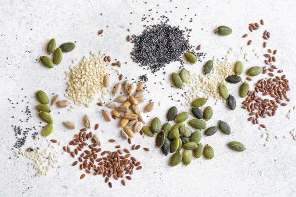 Seeds Assortment stock photo