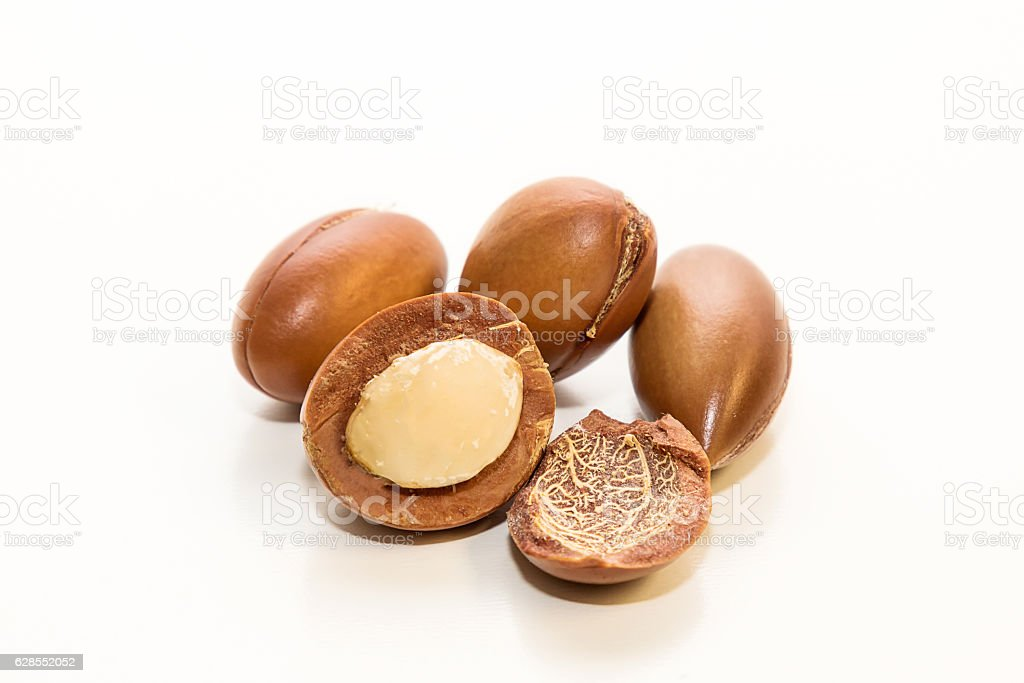Seeds of argan oil stock photo