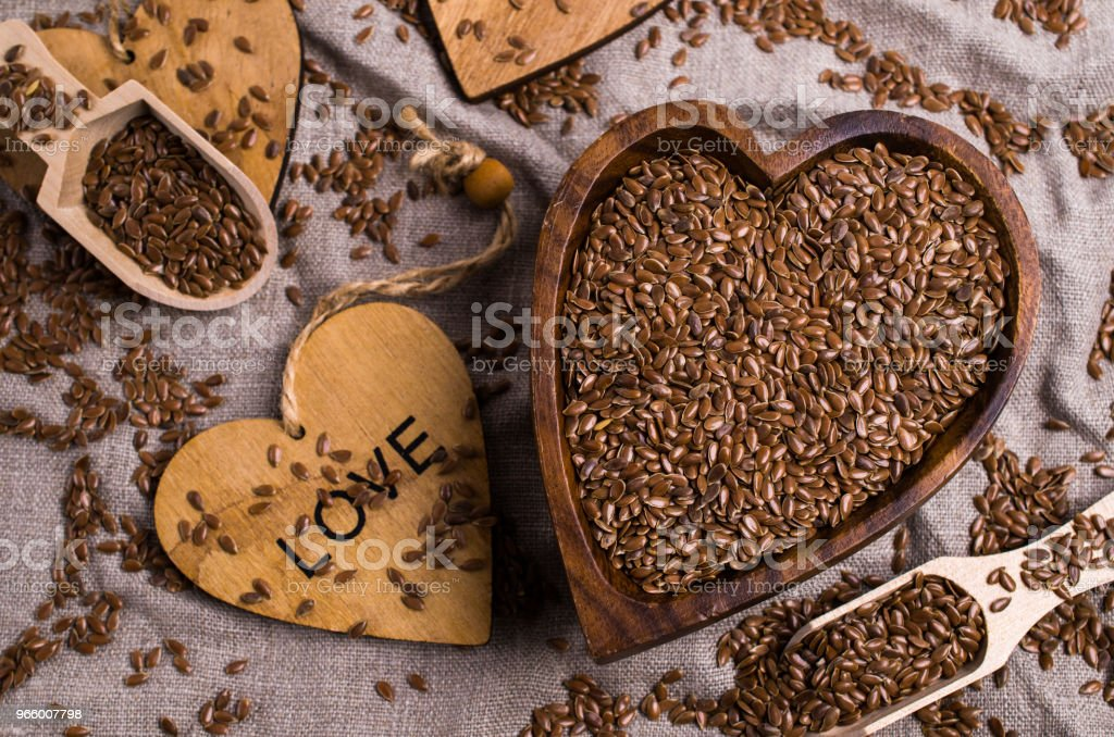 Seeds of pure brown flaxen - Royalty-free Agricultura Foto de stock