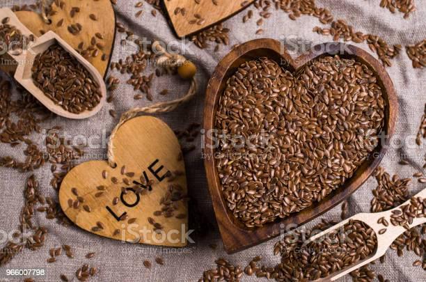 Seeds Of Pure Brown Flaxen - Fotografias de stock e mais imagens de Agricultura