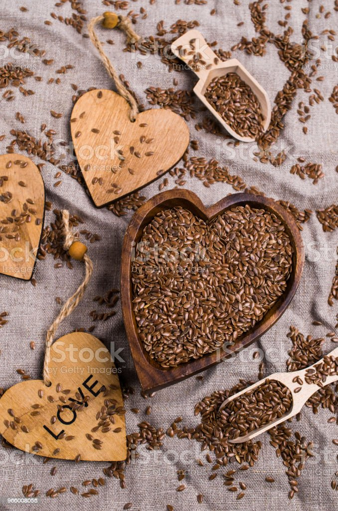 Seeds of pure brown flaxen - Royalty-free Agriculture Stock Photo