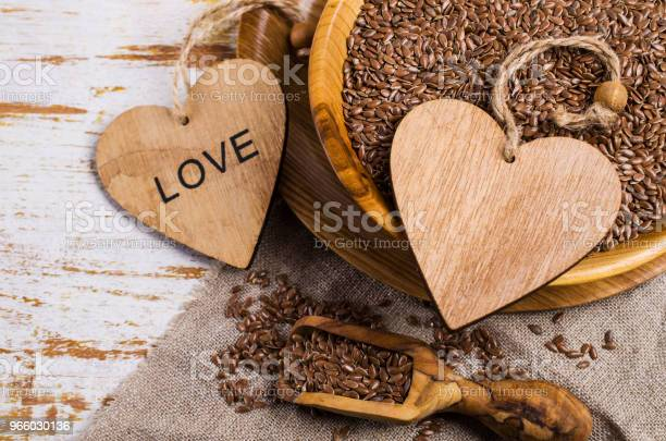 Seeds Of Pure Brown Flaxen Stock Photo - Download Image Now