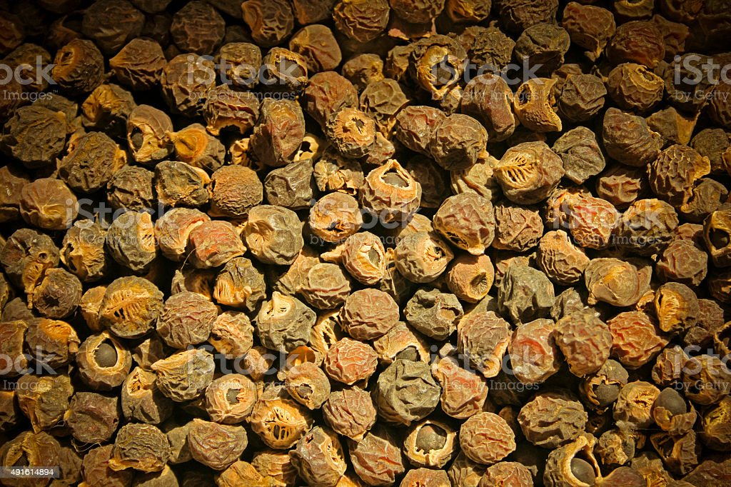 Seeds of Reetha, Chinese Soapberry North Indian soapnut stock photo