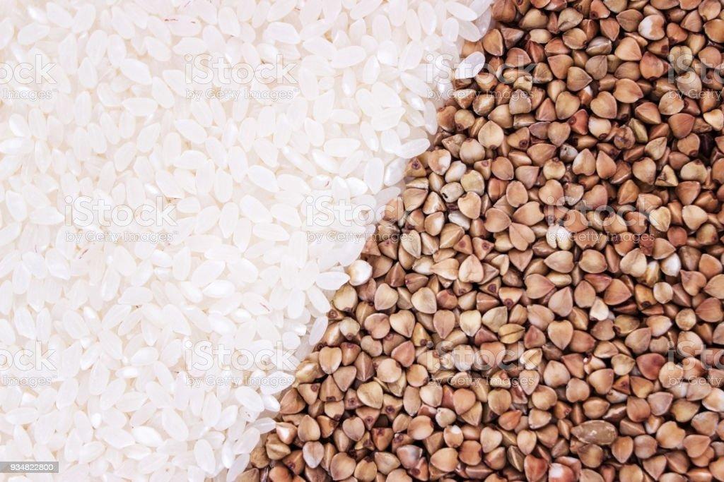 쌀과 밀, 텍스처의 씨앗입니다. - 로열티 프리 0명 스톡 사진