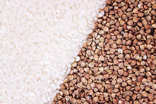 쌀과 밀 텍스처의 씨앗입니다 0명에 대한 스톡 사진 및 기타 이미지