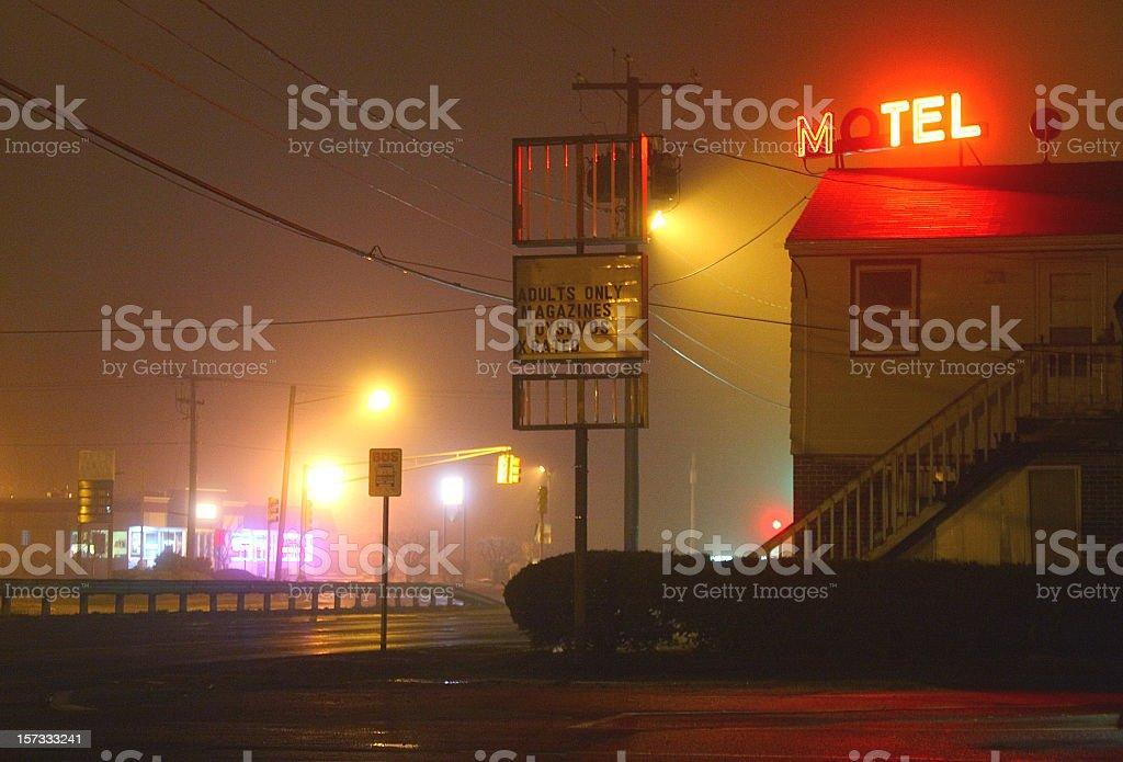 Seedy Motel stock photo