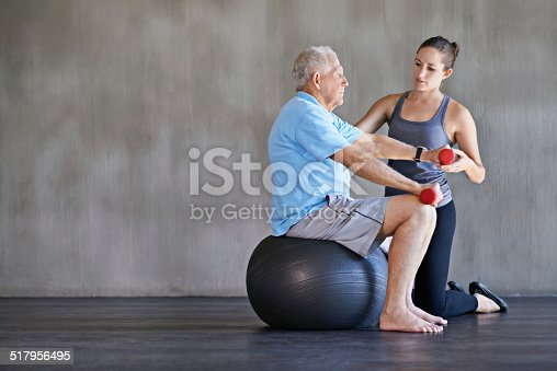 517995977 istock photo Seeing him through physio 517956495