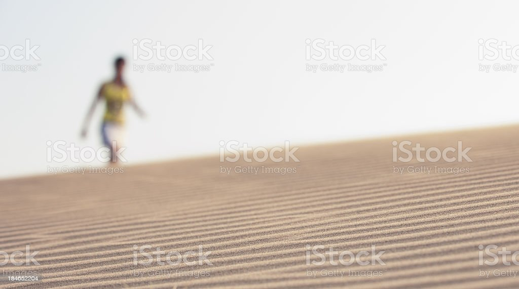 Seeing  Illusion on desert stock photo