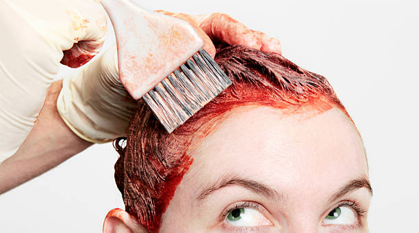 seeing-rot - haarfarbe ohne ammoniak stock-fotos und bilder