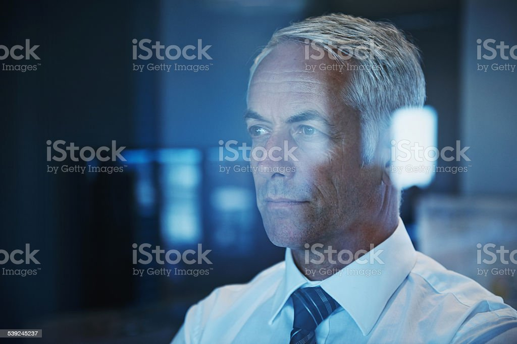 Seeing the future of his company royalty-free stock photo