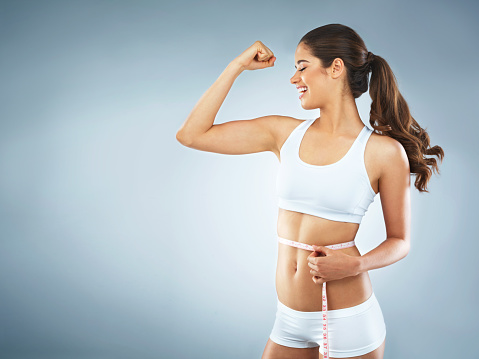 istock Seeing the results from her healthy lifestyle 685840226