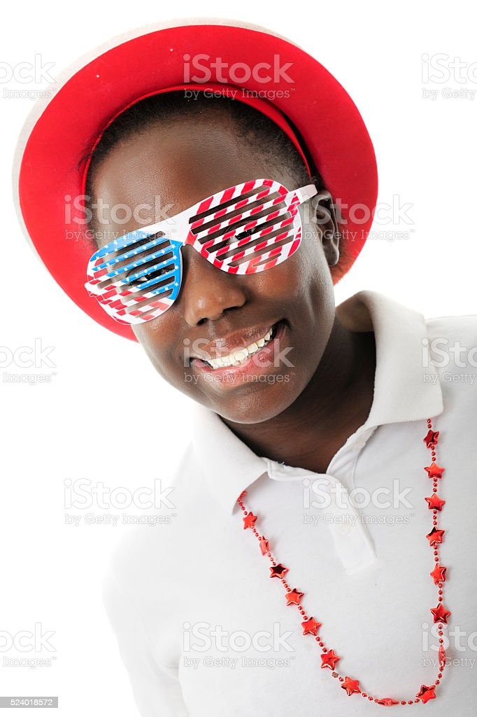 Seeing Through the Red, White and Blue stock photo