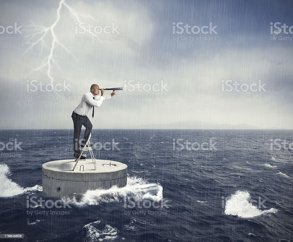 Seek a solution to the crisis royalty-free stock photo