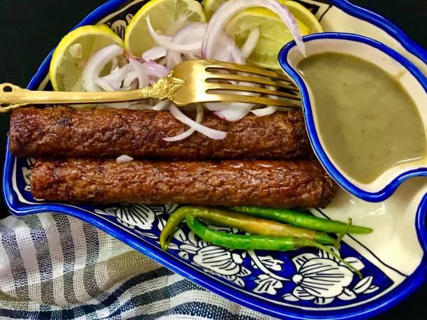 Seekh Kebab stock photo
