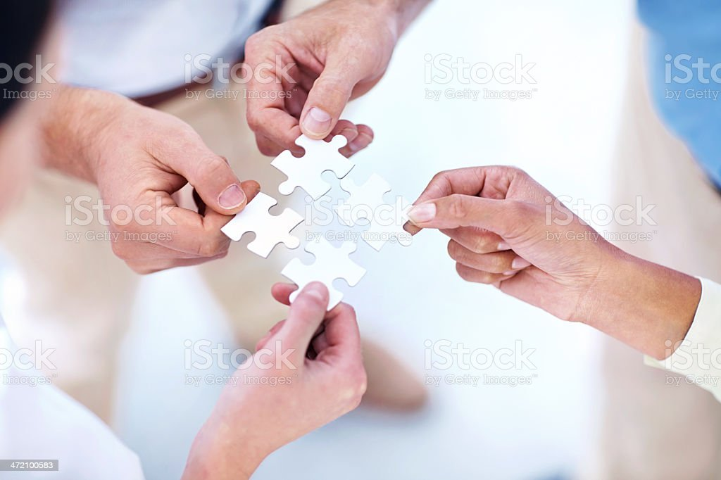 Seeking corporate solutions stock photo