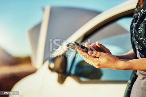 istock Seeking emergency roadside assistance 685858116