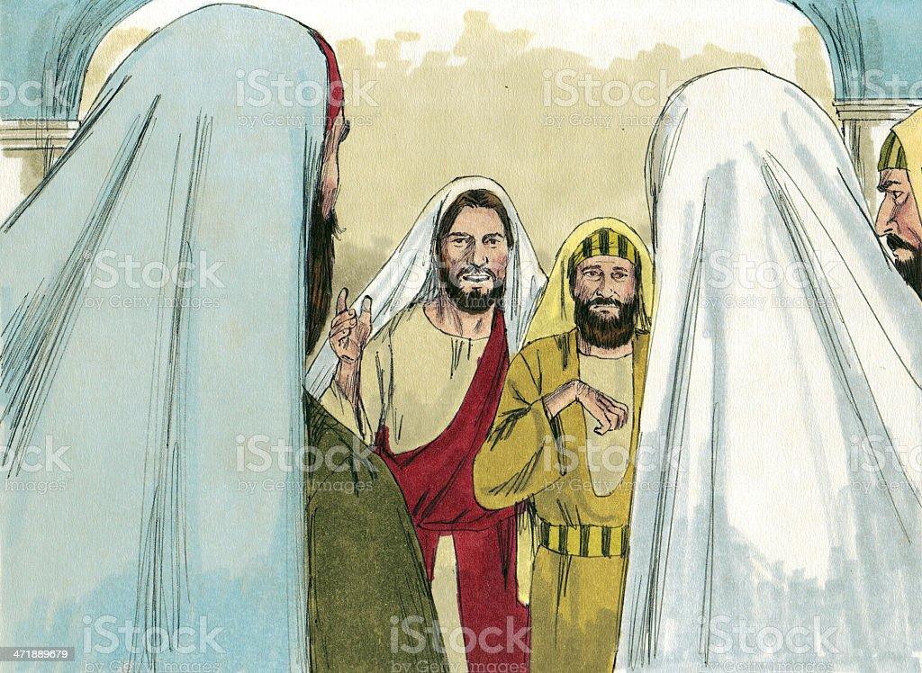 Seeking Jesus stock photo