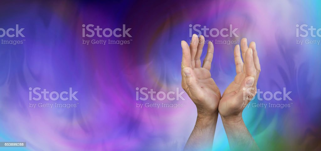 Seeking Support from Higher Powers stock photo