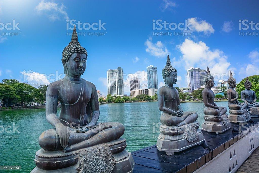 Seema Malaka Temple in Colombo, Sri Lanka stock photo