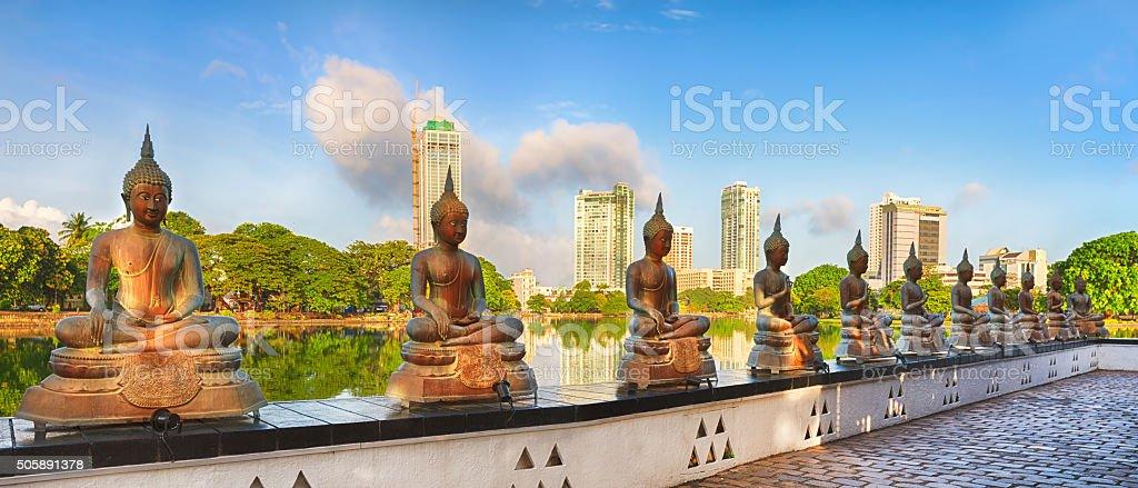 Seema Malaka temple. Panorama stock photo