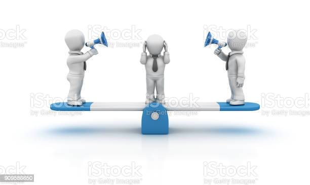Seesaw and business people with megaphone 3d rendering picture id909586650?b=1&k=6&m=909586650&s=612x612&h=3y81zr5iofy5w1g7bpia31flrqgm4vllgmaznlsnv1q=
