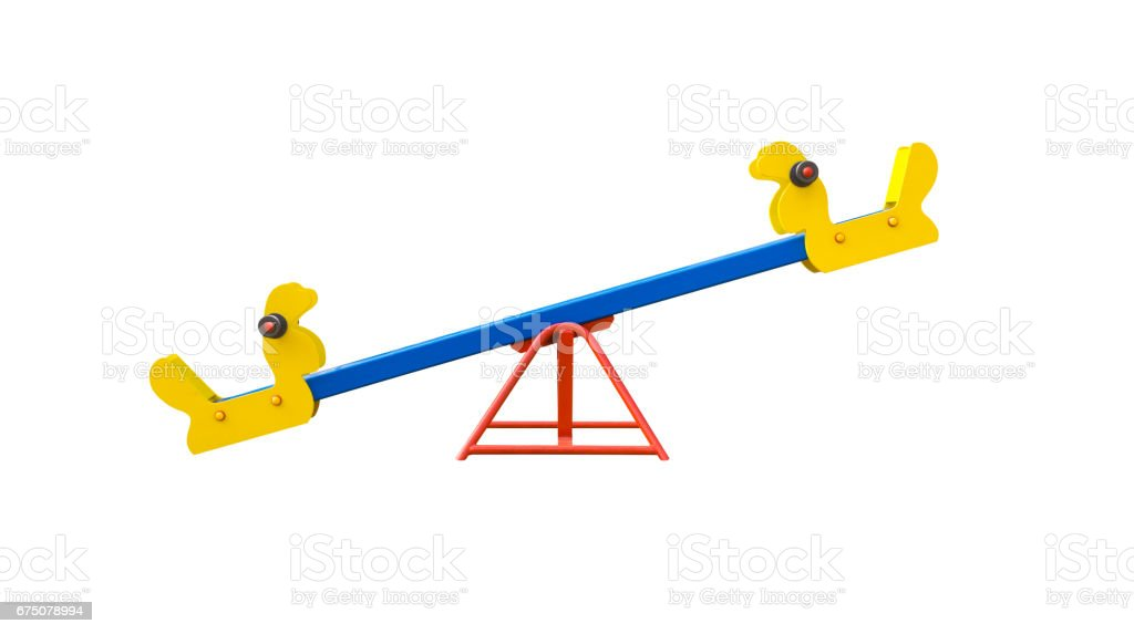 Seesaw for playground stock photo