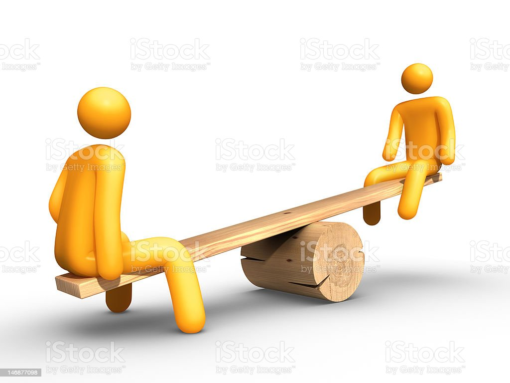 Seesaw royalty-free stock photo