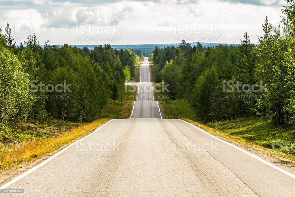 Seesaw road - Norway stock photo