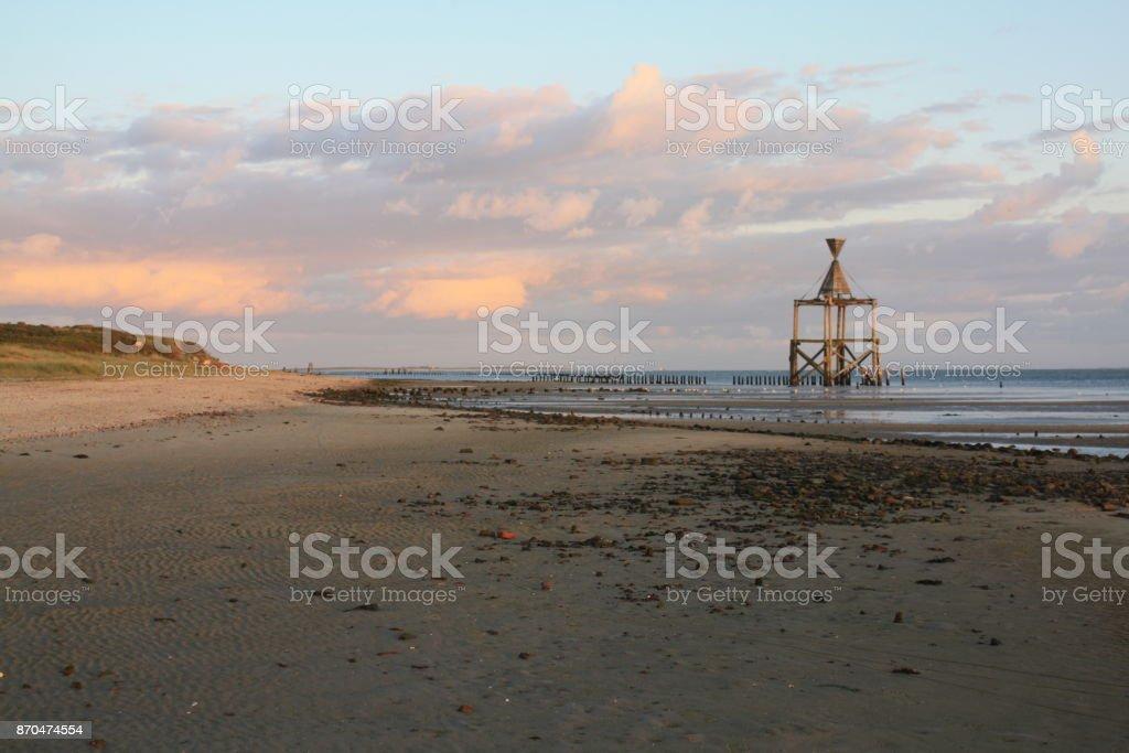 Seezeichen auf Wangerooge stock photo