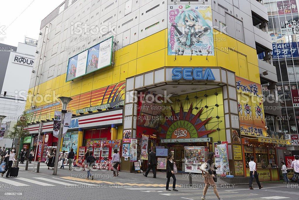 Sega Game Arcades in Tokyo, Japan stock photo