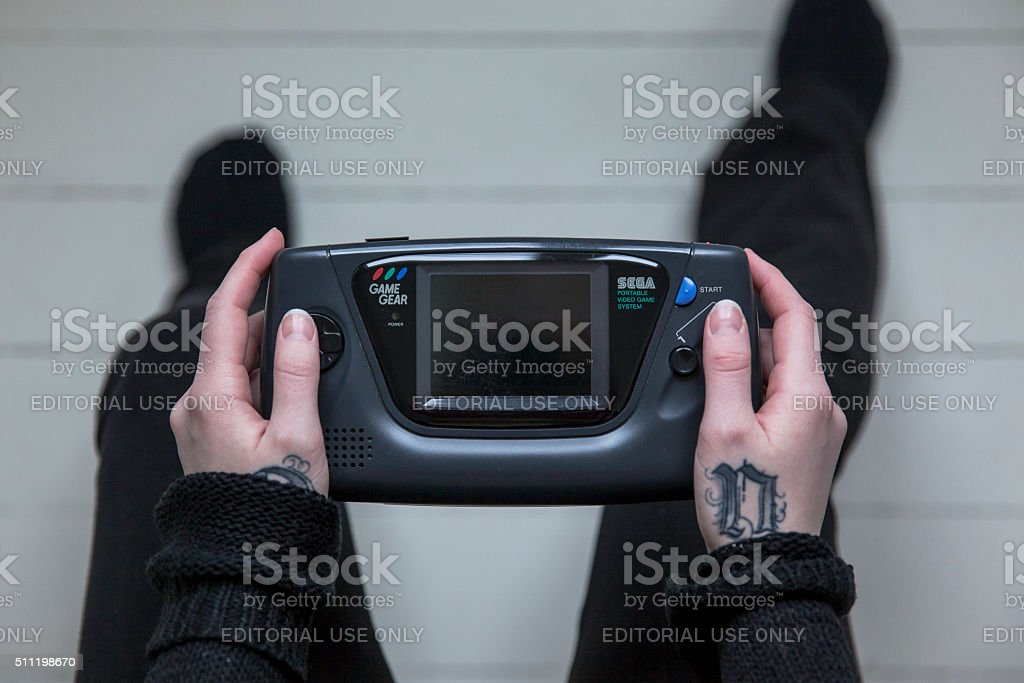 Sega Game Gear Handheld Game Console stock photo