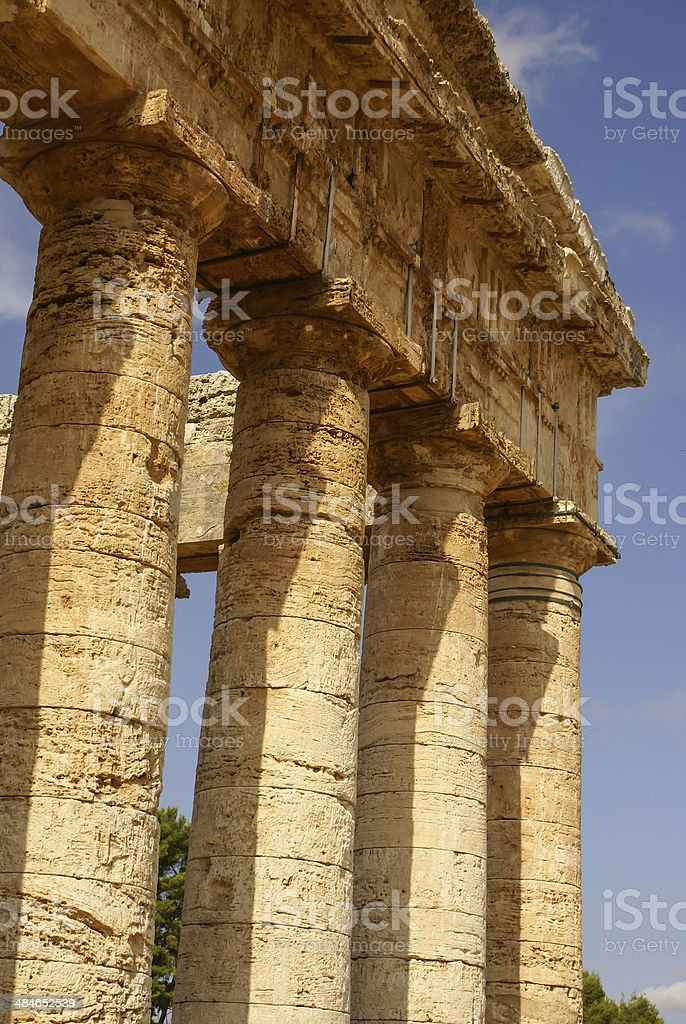 segesta archaeological site of ancient greece drills Sicily Ital royalty-free stock photo