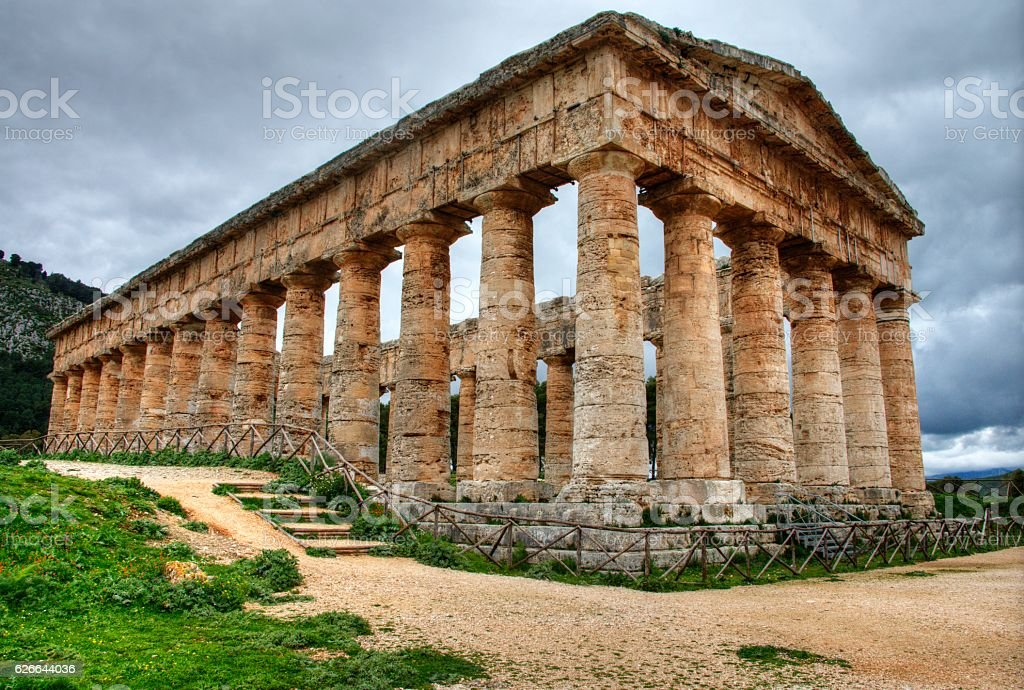 Segesta Greek Temple stock photo